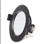 LED spot lage inbouwhoogte 9W zwart zaagmaat 75mm