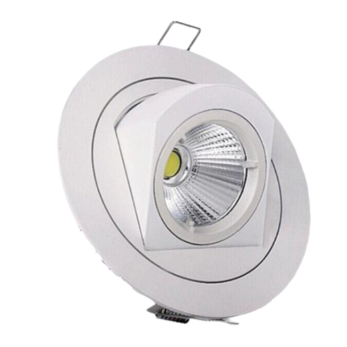 Kantelbare inbouwspot 10W LED zaagmaat 110mm