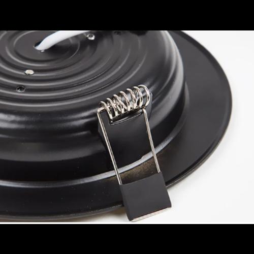 Inbouwspot mat zwart 12W zaagmaat 80mm lage inbouwdiepte