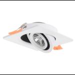 Vierkante inbouwspot wit of zwart 15W LED zaagmaat 110mm