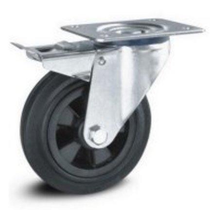 Svarta gummihjul