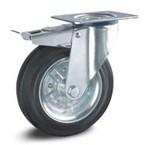 Gummihjul - hjulkropp i stål