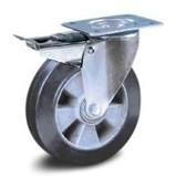 Svarta elastiska gummihjul
