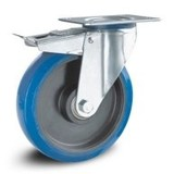 Blå elastiska gummihjul