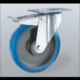 Rostfritt stål hjul - Elastiska gummi