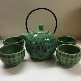 Thee set Celadon Green