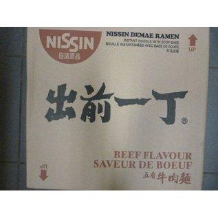 Nissin instant noodle beef 30x100gr