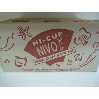 Nivo cup noodle onion chicken 24x65gr