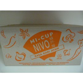 Nivo cup noodle chicken curry 24x65gr