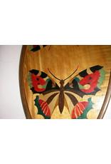Vlinderblad intarsia grote oranje vlinders