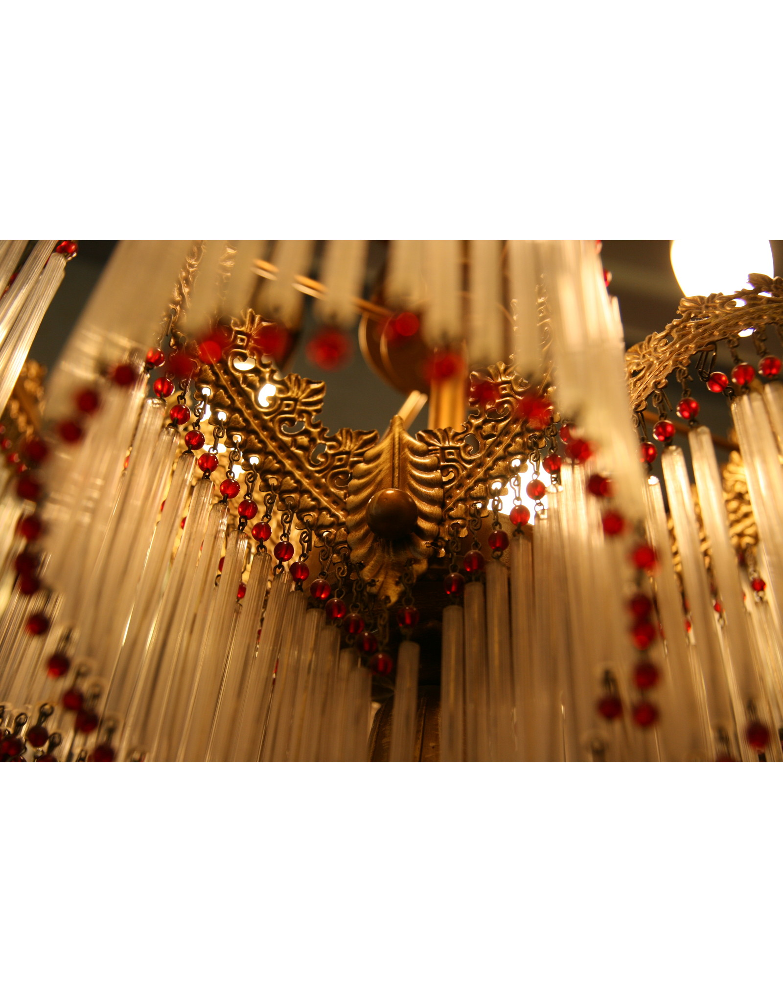 Italiaanse kroon glasstaafjes en rode kralen