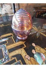 Carnivalglas ei met streepjes