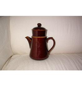 Koffiepot compleet met filter en deksel en aandrukgewichtje