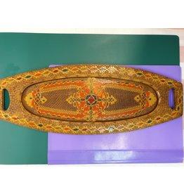 Kerfsnede gekleurd dienblaadje ovaal