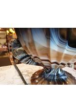 Cloud glas bowl  coupe schaal met parkieten of duiven