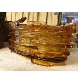 Verkade Rechaud verkade persglas geel oker amber verspringend patroon