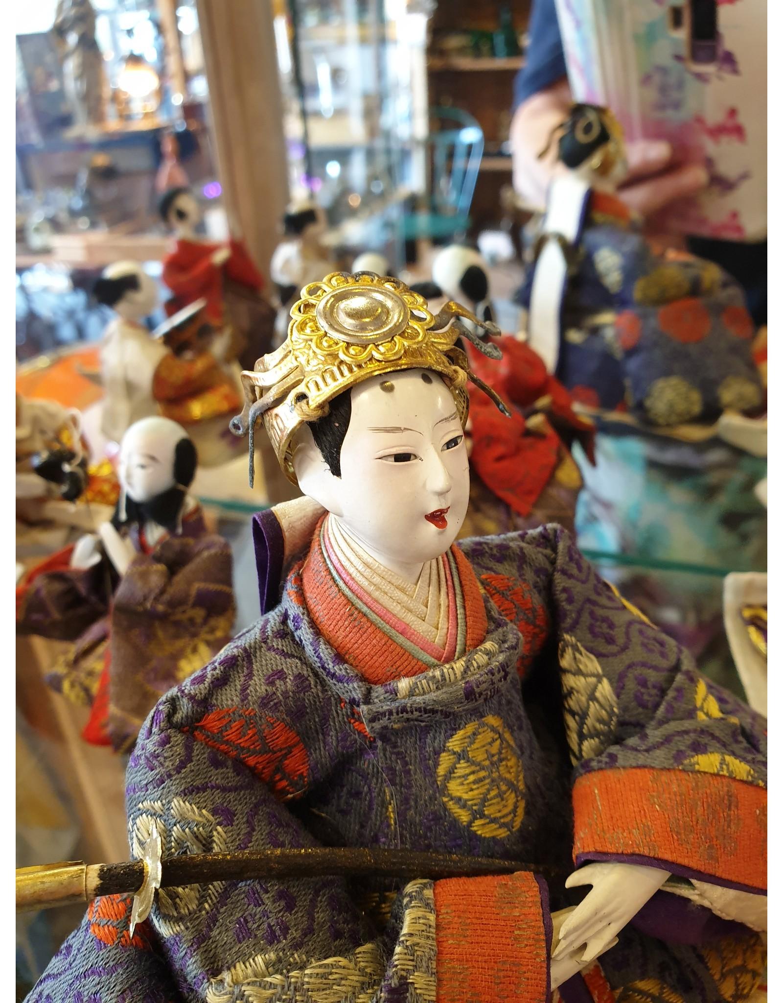 Japanse Keizerlijkehof gofun poppen set