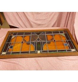 2 art deco glas in lood voorzetramen 102x50x3cm