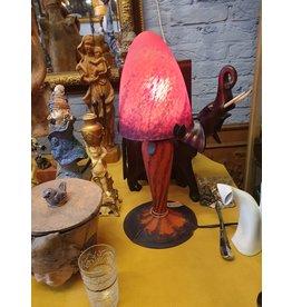 glaspasta pate de verre paddenstoel lampje
