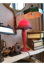 Noverdy Art de France Paddenstoel groot pate de verre glaspasta gesigneerd art de France oranje rood