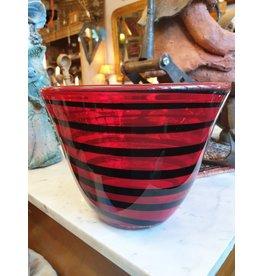 rood zwart glas vaas design