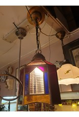 Glas en lood hal lampje art deco jaren 20