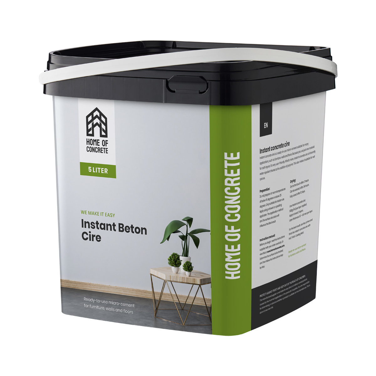 Home of Concrete HoC Instant Beton Ciré | Ready to use