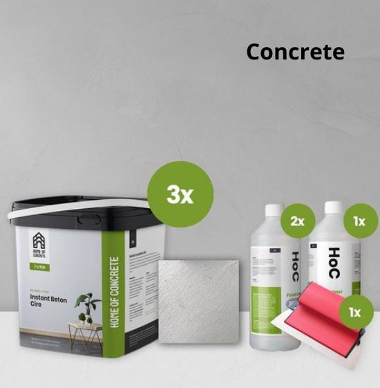 Home of Concrete HoC Instant Beton Ciré  | Kompletter 21 m2 Satz