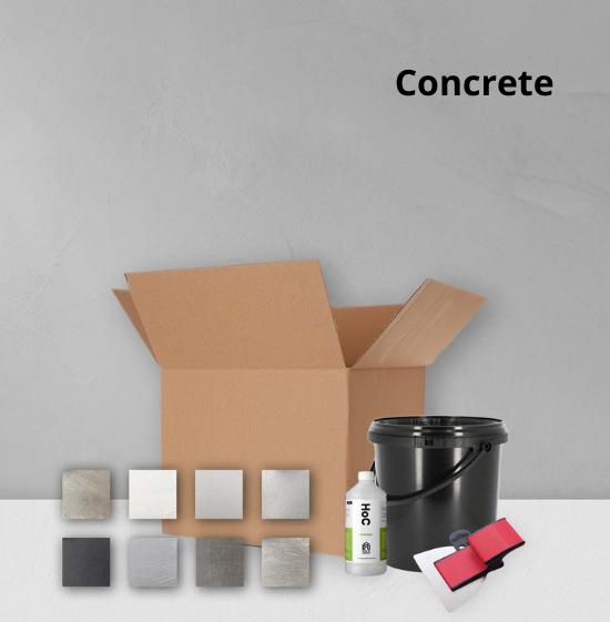 Home of Concrete HoC Beton Ciré Complete Testset voor 1m2 + Kleurstalen