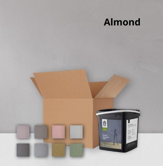Home of Concrete HoC Betonlook Farbe Testkit | 1m2 + Farbmusterbox 8 Farben  | Gebrauchsfertig