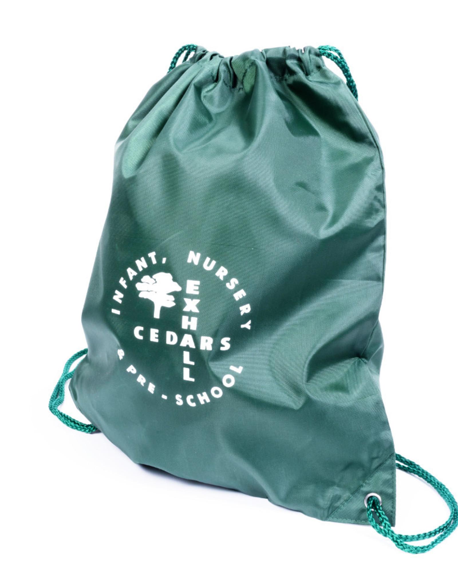 Green Unisex Gym Sac - Exhall Cedars