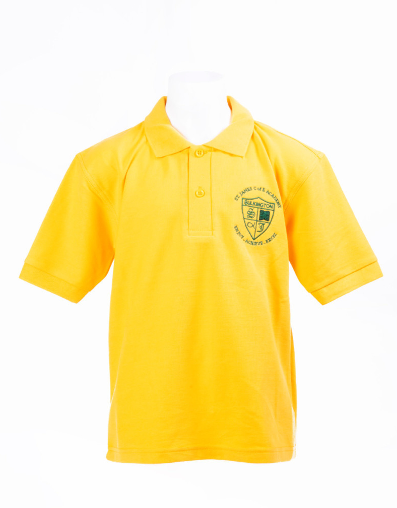 Polo-Shirt Adult Size (Gold) - St James CE Academy
