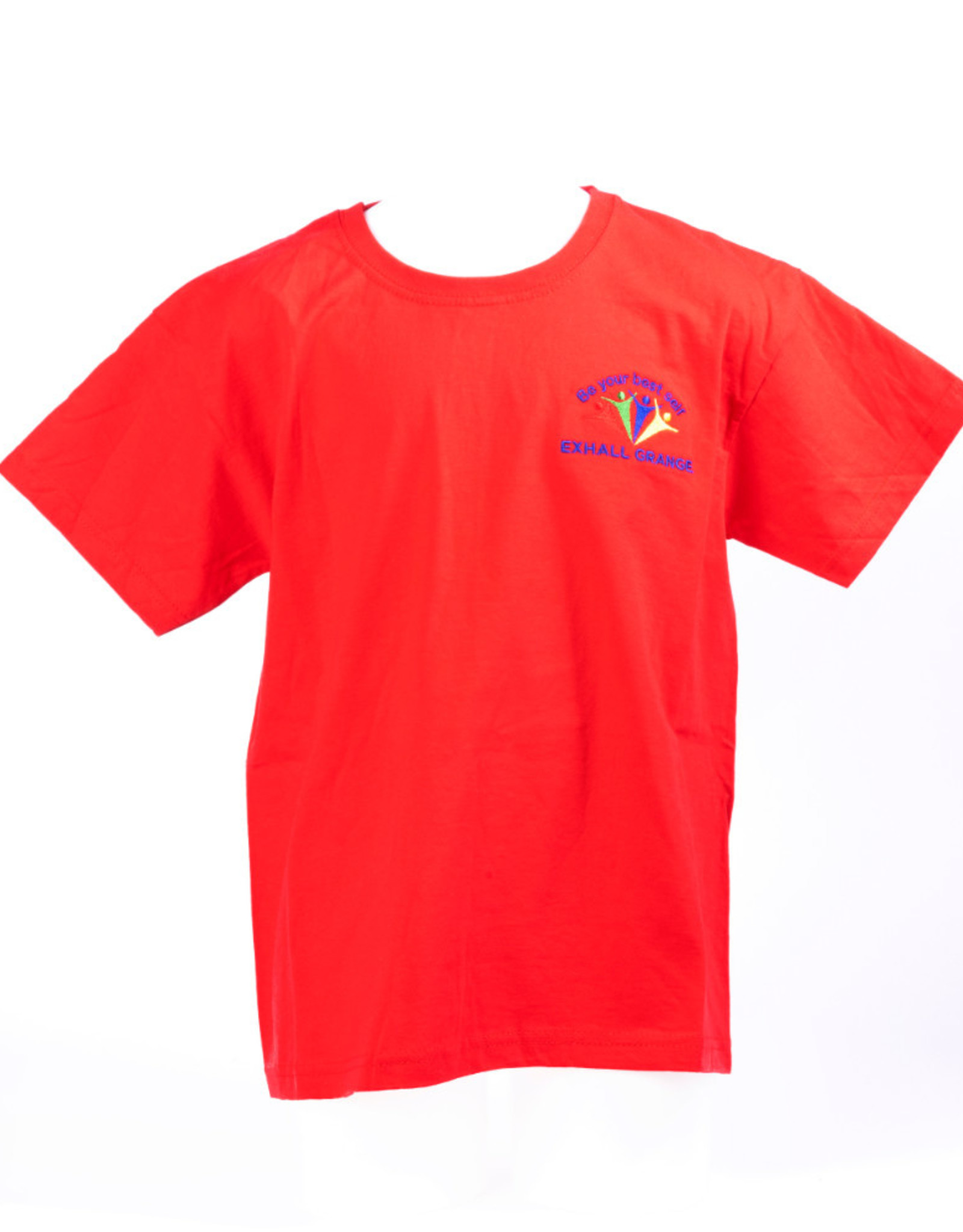 FRUIT OF THE LOOM P.E T-Shirt Primary Adult Size- Exhall Grange