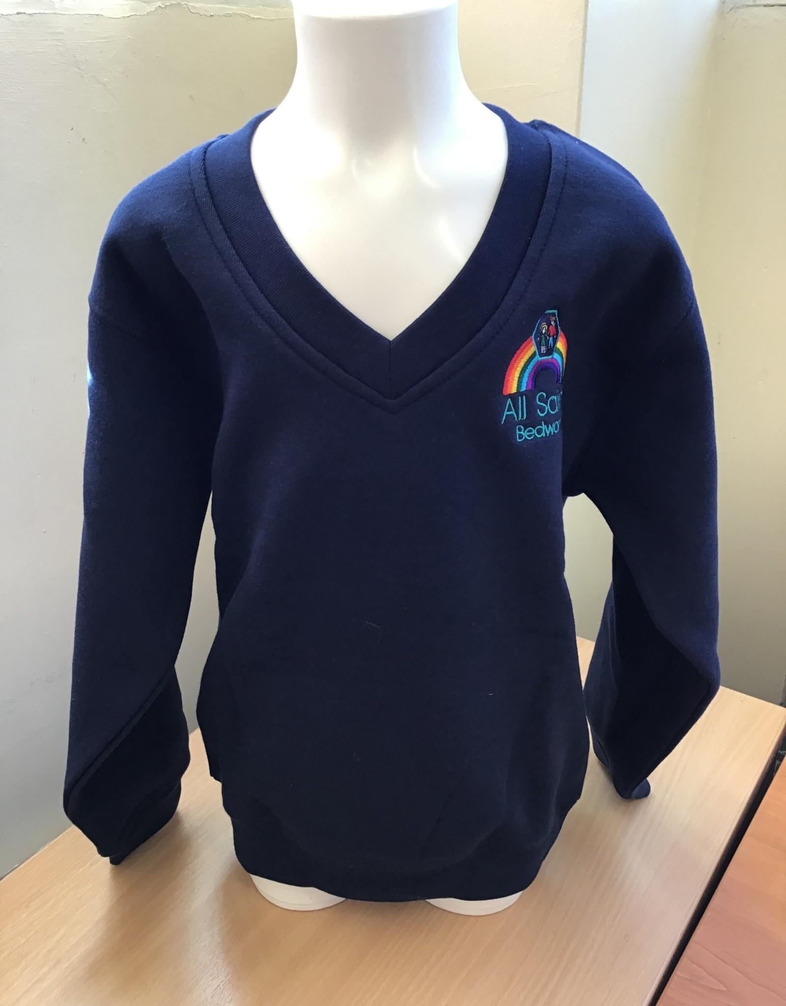 V-Neck Sweatshirt Child Size - All Saints