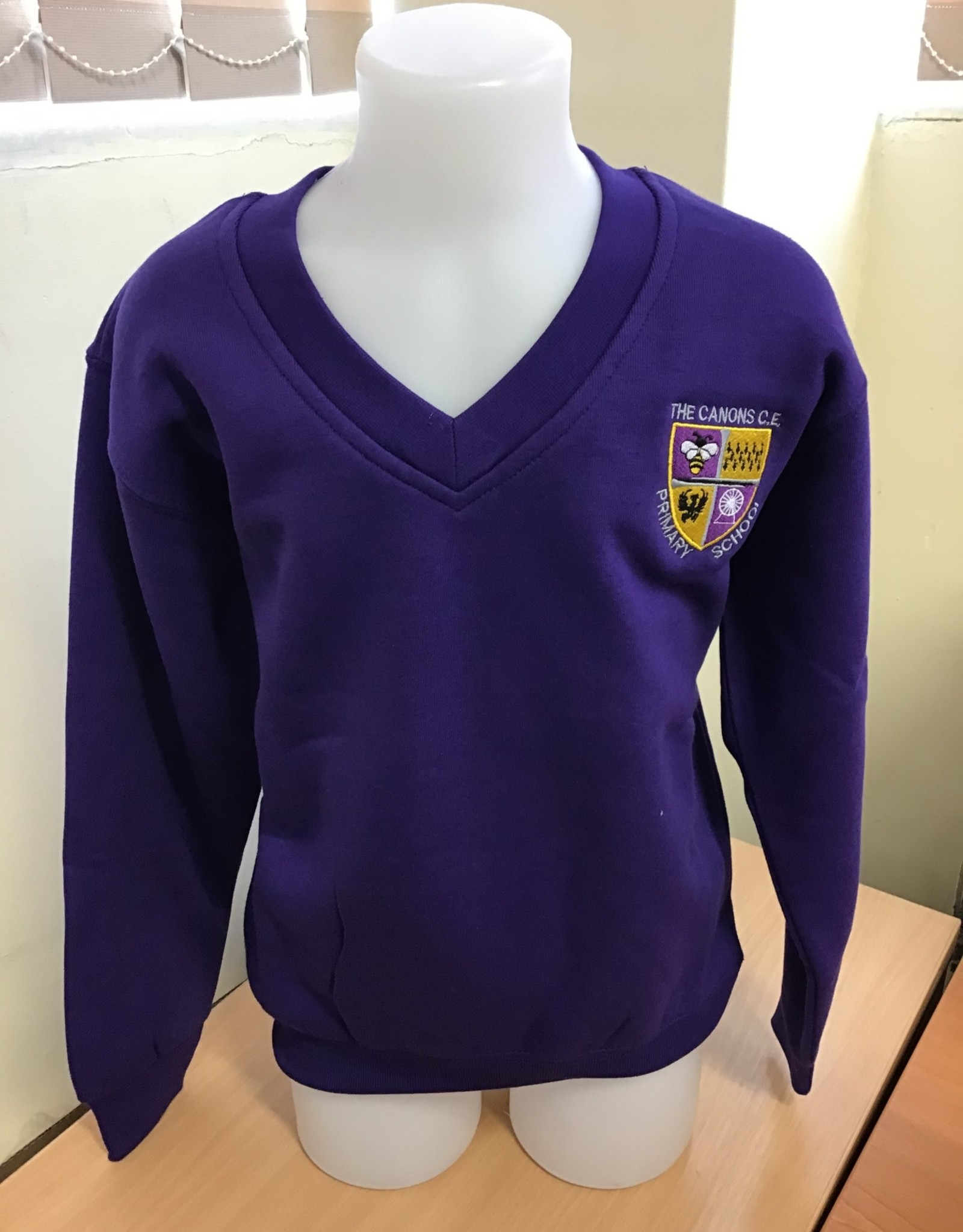 V-Neck Sweatshirt Child Size - The Canons CE Primary School