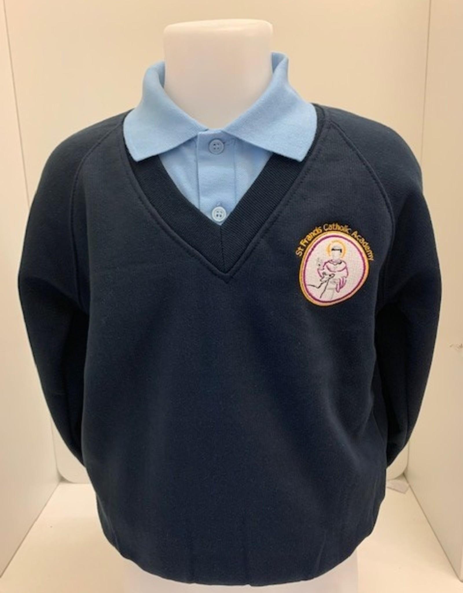 V-Neck Sweatshirt Adult Size - St Francis Catholic Academy