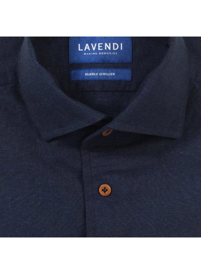 Lavendi Overhemd Cotton Schiller Dark Blue