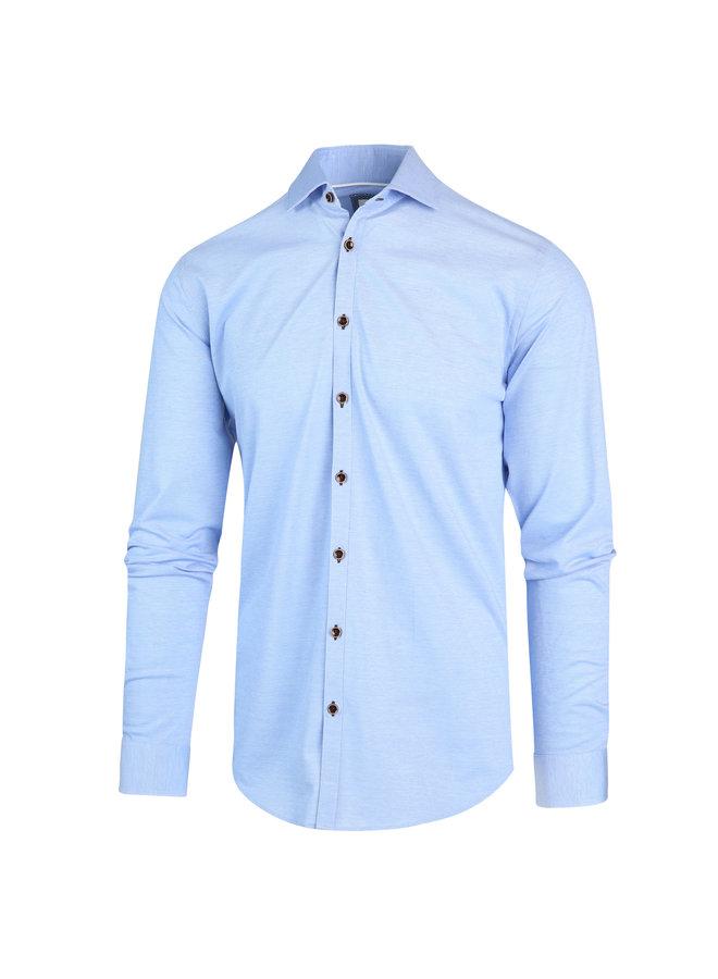 Blue Industry Overhemd Stretch Blue