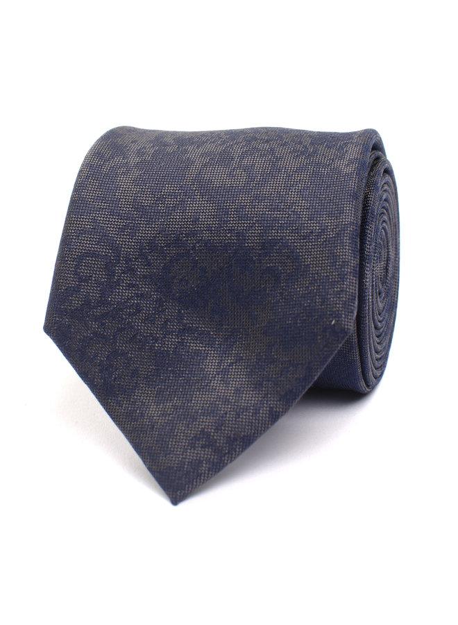 Tresanti Stropdas Silk Flower design Grey