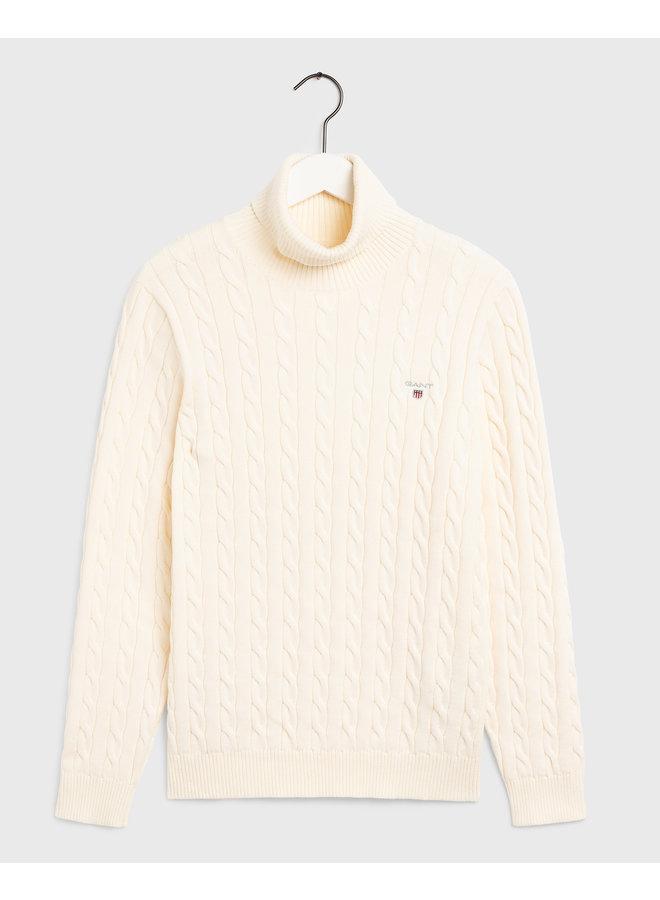 Gant Pullover Kabel Turtle Neck Cream