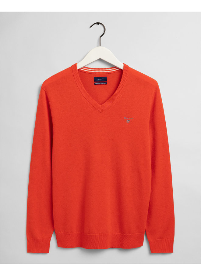 Gant Pullover Lambswool V-Neck Orange