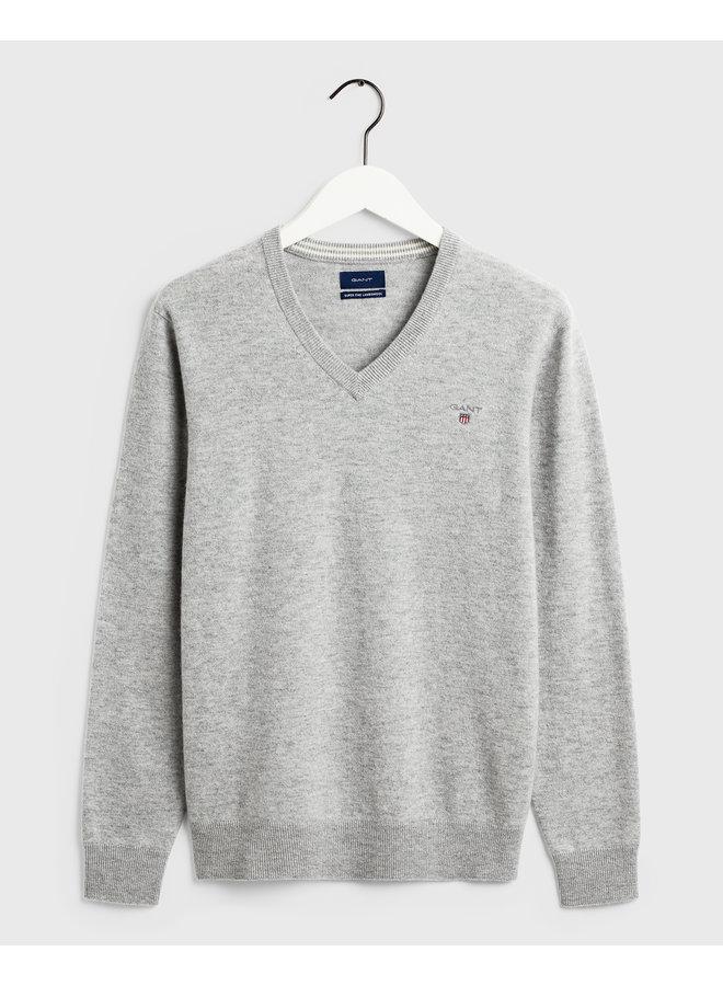 Gant Pullover V-Neck Light Grey Melange