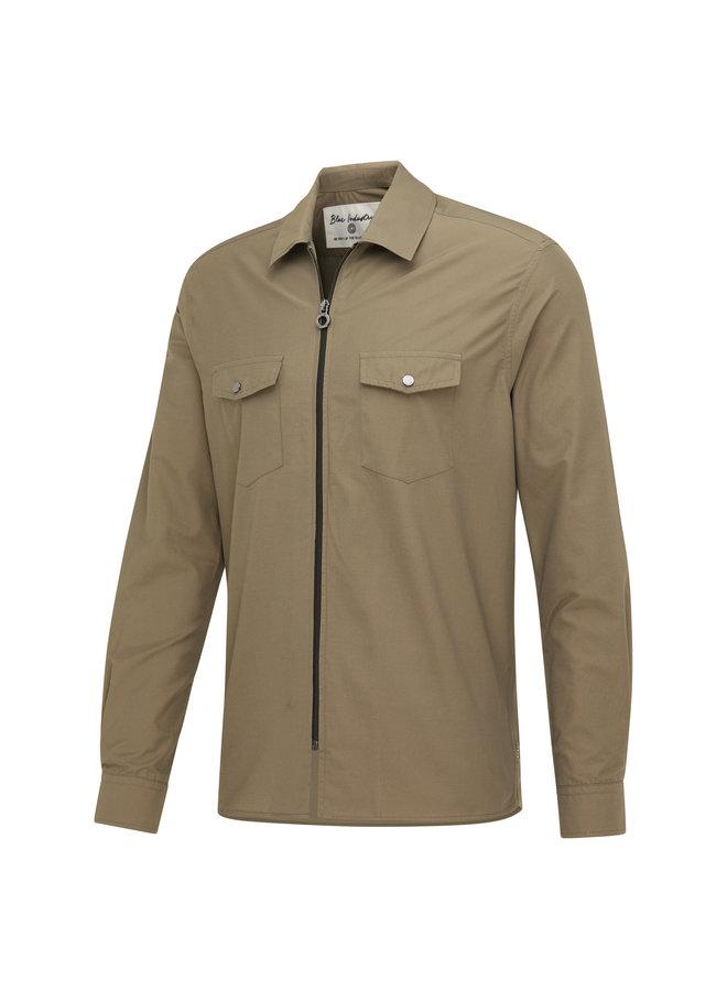 Blue Industry Overshirt/Jacket  Zip  Green