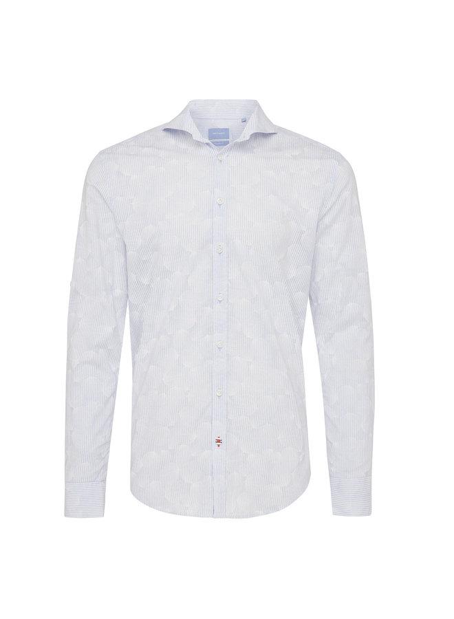 Tresanti Overhemd Stripe/Flower L.Blue