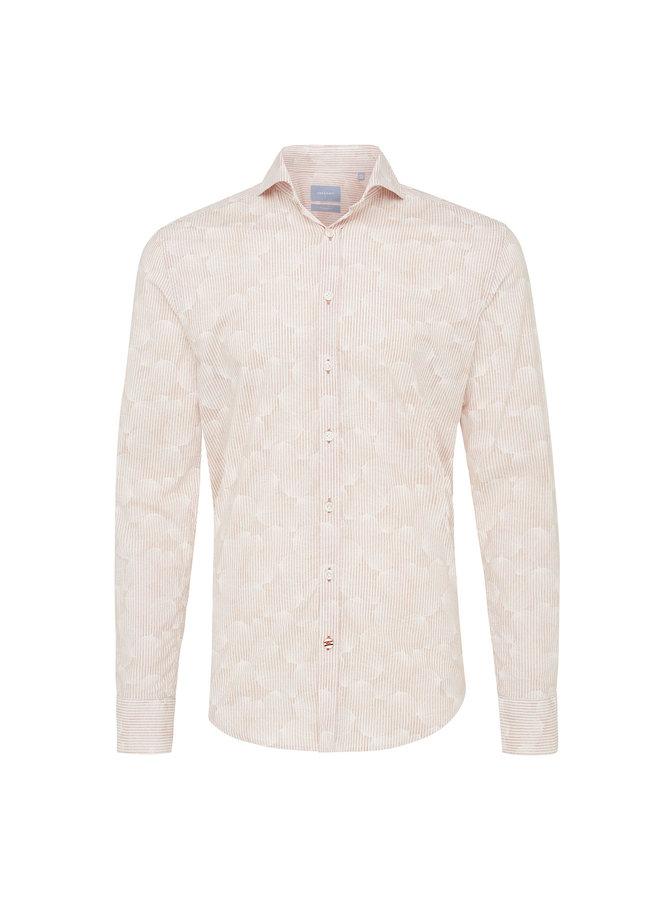Tresanti Overhemd Stripe/flower Pink