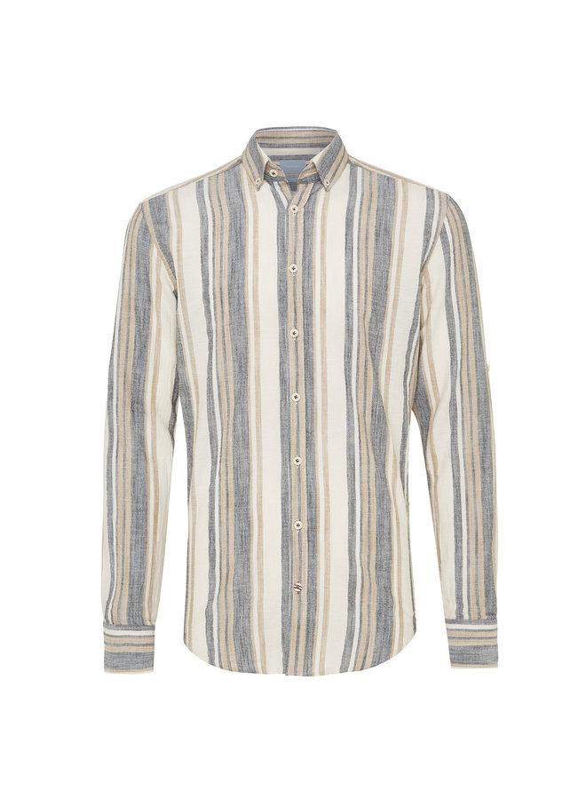 Tresanti Overhemd Multi Stripe beige/indigo