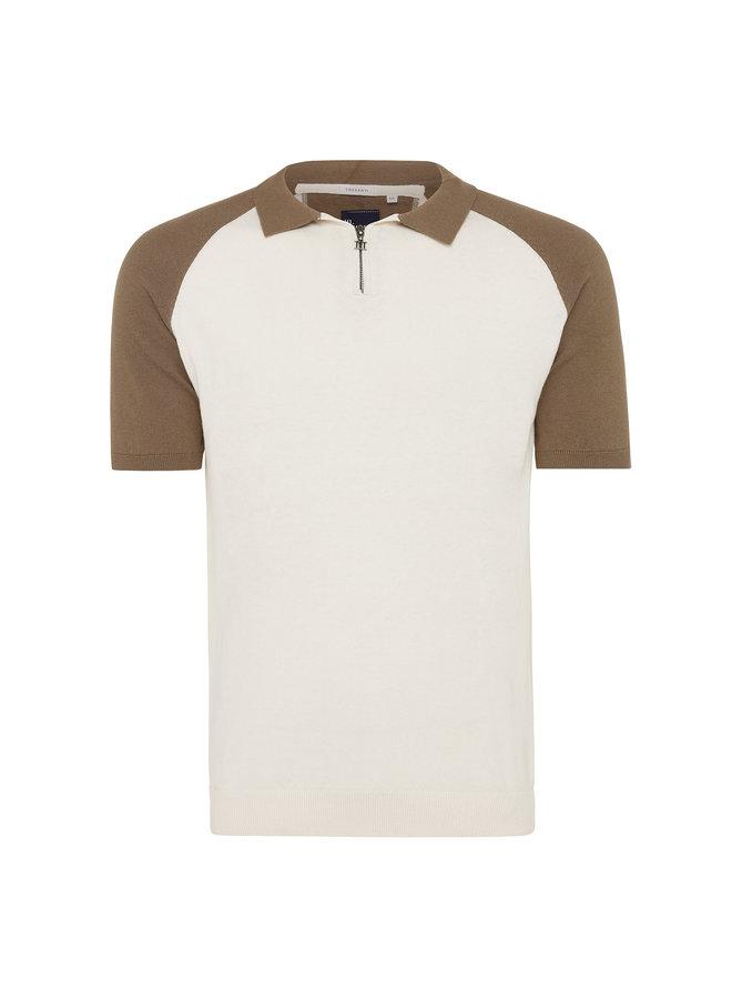 Tresanti Pullover Polo Stijl White/Brown