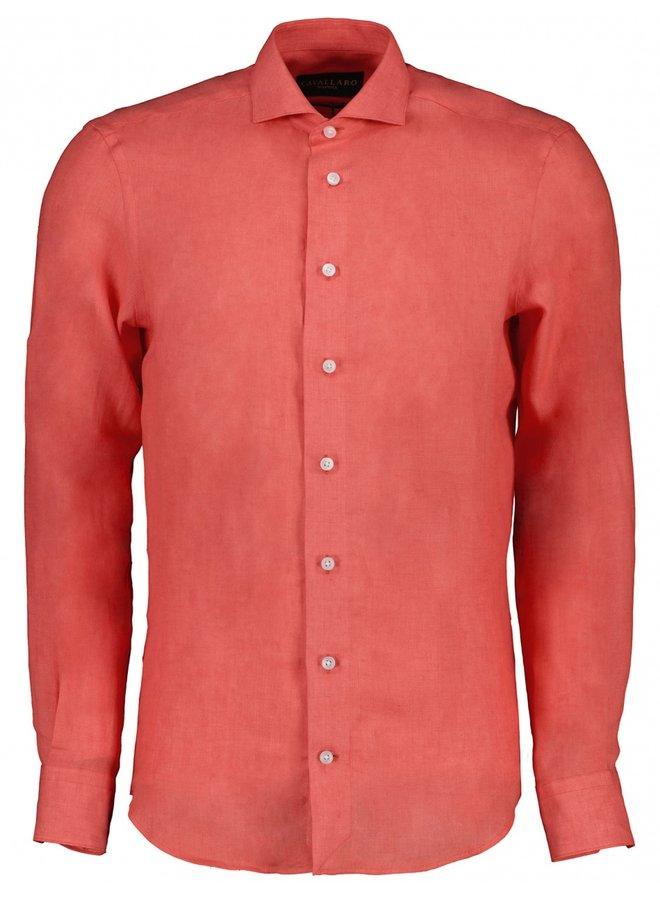 Cavallaro Overhemd Leo Linnen  Coral