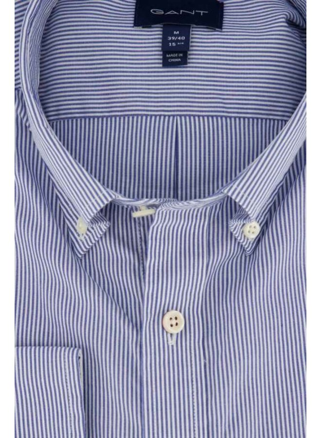 Gant Overhemd Micro Stripe Nautical Blue Regular