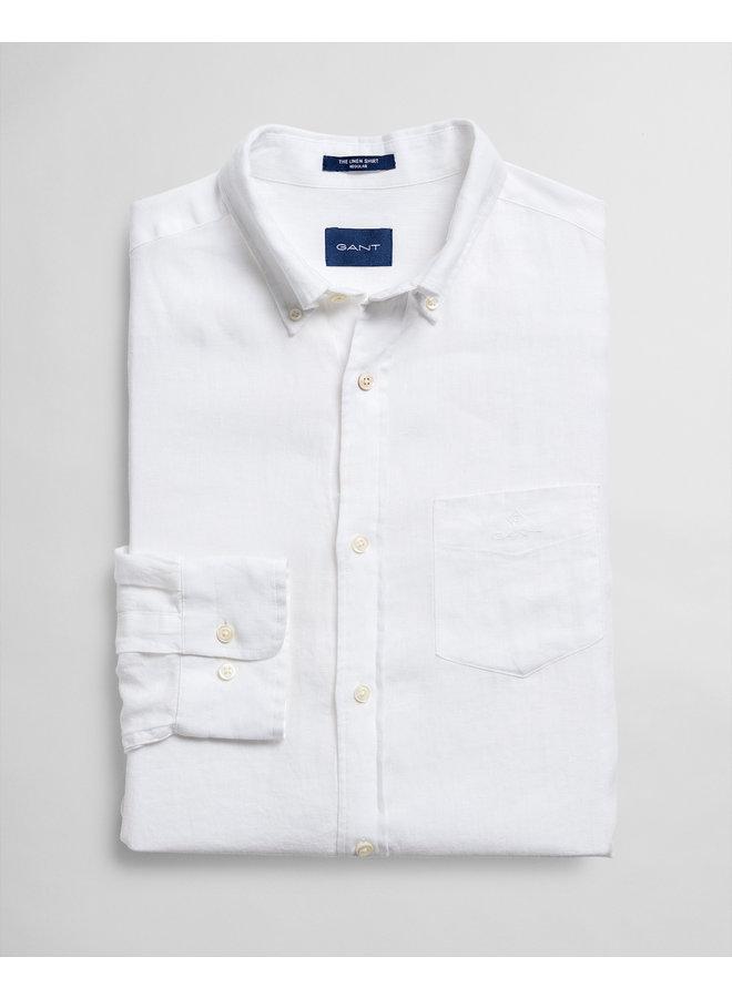 Gant Overhemd Linnen White